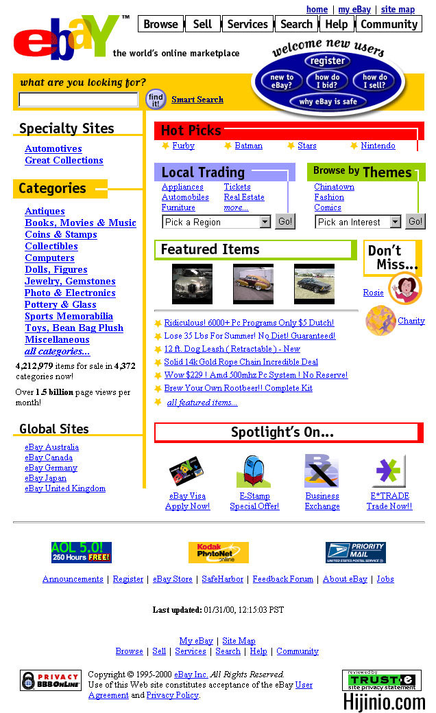 Building the eBay Homepage | Hijinio com